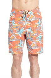 Men's Patagonia 'Wavefarer' Print Board Shorts Piton Paradise Cusco Orange