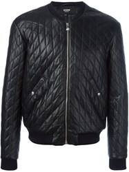 Versus Quilted Bomber Jacket Blue