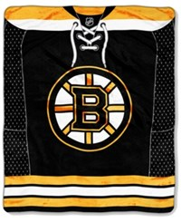 Northwest Company Boston Bruins Raschel Stamp Blanket