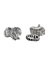 Robin Rotenier Elephant Head And Peanut Cuff Links No Color