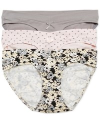 Motherhood Maternity Hipster Briefs 3 Pack Dot Grey Floral