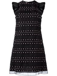 Giamba Embroidered Details Dress Black