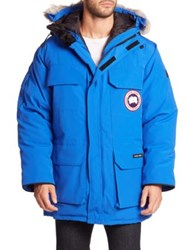 Canada Goose Fur Lined Parka Royal Pbi Blue