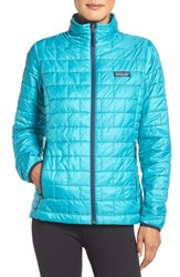 Patagonia Women's 'Nano Puff' Water Resistant Jacket Epic Blue