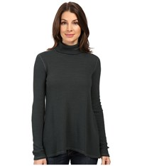 Three Dots Loreen Long Sleeve Relaxed Turtleneck Forage Women's Clothing Green