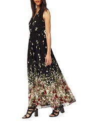 Miss Selfridge Floral Printed Gown Black