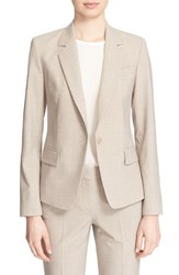 Women's Theory 'Gabe' Stretch Wool Blazer Khaki Melange