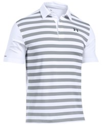 Under Armour Men's Coldblack Tempo Stripe Polo White