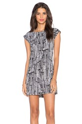 Sam Edelman Contrast Back Detail Dress Black And White