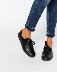 Keds Classic Leather Plimsoll Trainers Black