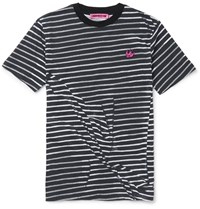 Mcq By Alexander Mcqueen Slim Fit Striped Cotton T Shirt Black