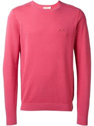 Sun 68 Monochromatic 'Giro' Jumper Pink And Purple