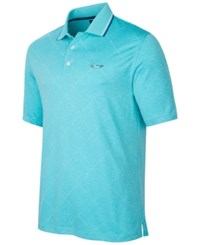 Greg Norman For Tasso Elba Men's Big And Tall Grid Performance Polo Only At Macy's Tidewater