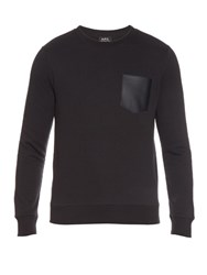 A.P.C. Crew Neck Cotton Jersey Sweater Navy