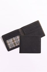 Men's Boconi 'Leon' Slimfold Wallet Black Black Green Plaid