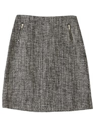 Precis Petite Jeff Banks Tweed Skirt Grey