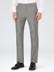 Reiss Garth Tailored Suit Trousers Grey