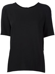 Adam By Adam Lippes High Low Hem T Shirt Black
