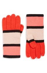 Kate Spade Women's New York Mondarian Colorblock Gloves Persimmon Grove