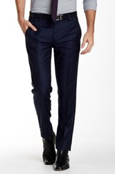 Gi Capri Flat Front 1 4 Top Pocket Wool Pant Blue