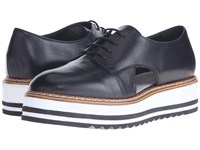 Summit White Mountain Brody Black Leather Women's Lace Up Casual Shoes