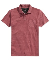 Quiksilver Men's Martini Heathered Polo Heather Red