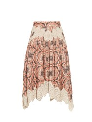 Zimmermann Empire Konya Print Linen Skirt