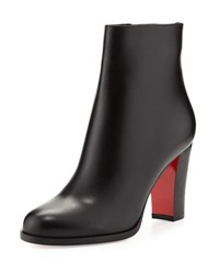 Christian Louboutin Adox Leather 85Mm Red Sole Ankle Boot Black