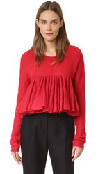 Philosophy Di Lorenzo Serafini Peplum Sweater Red