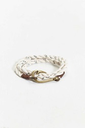 Urban Outfitters Twisted Fabric Hook Bracelet White