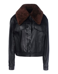 3.1 Phillip Lim Leather Outerwear Black