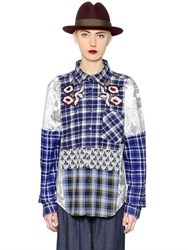 Antonio Marras One Of A Kind Patchwork Cotton Shirt
