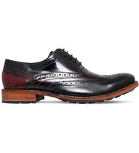 Ted Baker Krelly 2 Patent Leather Oxford Brogues Blk Red