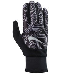 Nike Men's Printed Therma Fit Gloves Black Cool Grey Silver