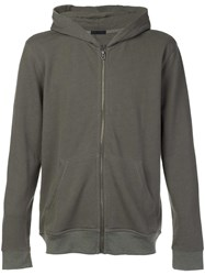 Atm Anthony Thomas Melillo Zipped Hoodie Brown