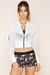 Forever 21 Active Mesh Cropped Jacket