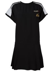 Red Valentino Sheer Sleeves T Shirt Dress Black