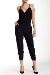 Eight Sixty Surplice Jumpsuit Black