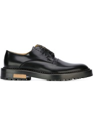 Fendi Ridged Sole Derby Shoes Black