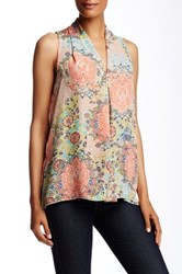Spense Inverted Pleat Blouse Multi