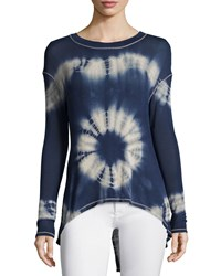 Vintage Havana Tie Dye High Low Top Navy