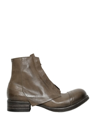 Alexandre Plokhov Matte Horse Leather Worker Boots Grey