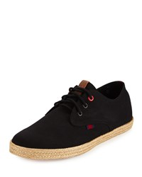 Ben Sherman Jenson Lace Up Espadrille Sneaker Black