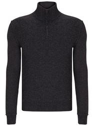 Hugo Boss Orange Kwemare Zip Jumper Dark Grey