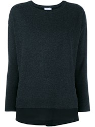 Vince Vince Knit Open Back Crew Black