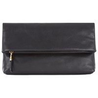 Jaeger Newington Leather Clutch Bag Black