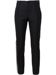 Bouchra Jarrar Piped Tailored Trousers Black