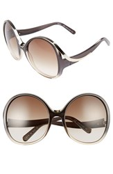 Chloe Women's Mandy Oversized Oval 61Mm Sunglasses Gradient Grey Turtledove Gradient Grey Turtledove