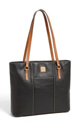 Dooney And Bourke 'Lexington Pebble Grain Collection' Water Resistant Tumbled Leather Shopper Black