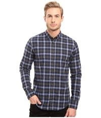 Boss Orange Edipoe Plaid Long Sleeved Shirt Blue Men's Clothing
